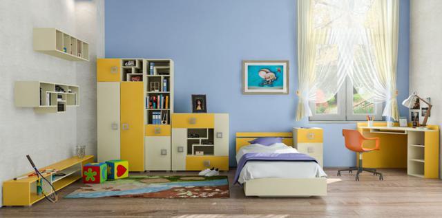 Детская комната Labirint цвет ваниль / желтый (комплект 1)