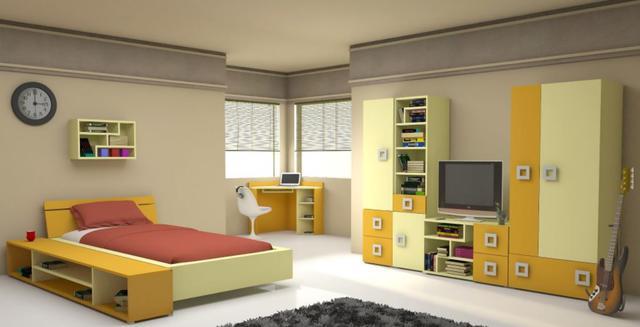 Детская комната Labirint цвет ваниль / желтый (комплект 2)