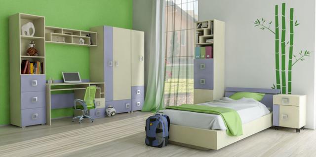Детская комната Labirint цвет ваниль / синий (комплект 2)