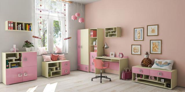 Детская комната Labirint цвет ваниль / розовый (комплект 1)