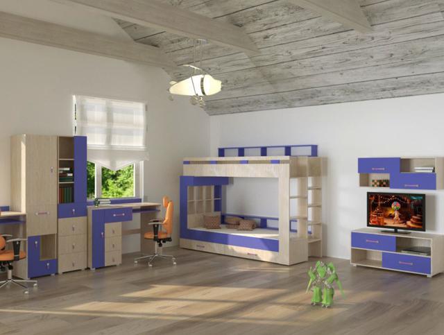 Детская комната Snoopy цвет дуб атланта / синий (комплект 2)
