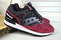 Мужские кроссовки Saucony бордово-черные 2613