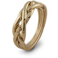 Элегантное женское золотое кольцо головоломка от Wickerring