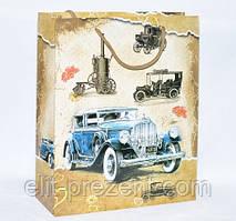"""Пакет подарочный """"Ретро автомобиль"""" 32-26-10 см"""