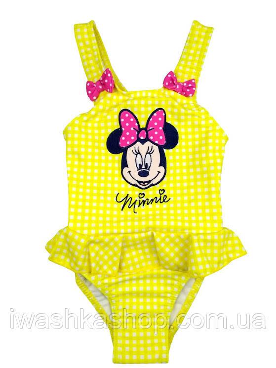 Желтый купальник для девочки в клетку с Минни Minnie Mouse, Disney baby р. 74 на 1 год