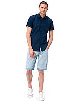 Мужская синяя рубашка LC Waikiki / ЛС Вайкики с карманом на груди XL