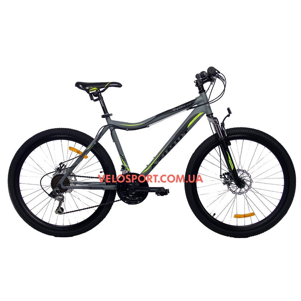 Горный велосипед Azimut Voltage 26 D+ серо-черный