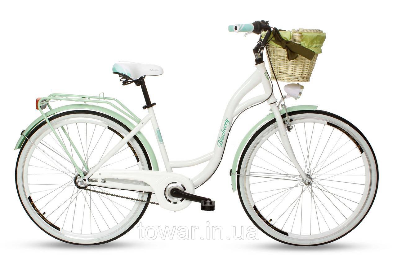 Велосипед женский Goetze BLUEBERRY 28 3перед.+кош