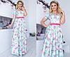 Платье женское в пол с шелка (3 цвета)- Ментол ТК/-2047