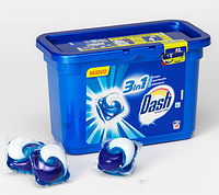 Стиральный порошок жидкий концентрированный формула чистоты 3 в 1 Dash Ecodosi Actilift в капсулах, 36 шт.