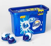 Стиральный порошок жидкий концентрированный формула чистоты 3 в 1 Dash Ecodosi Actilift в капсулах, 30 шт.