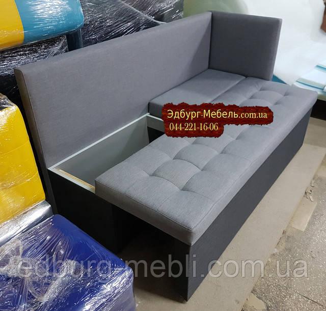 Диван для вузької кімнати з бічної спинкою і спальнем місцем