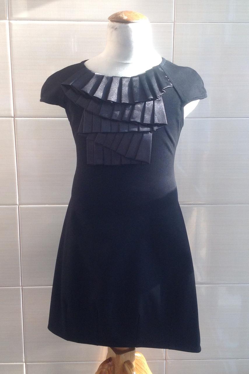 Школьное платье без рукава Ahsen с атласным жабо