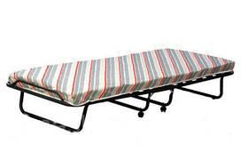 Раскладушка-кровать Ольга 197х80х30 см на колесиках с матрасом