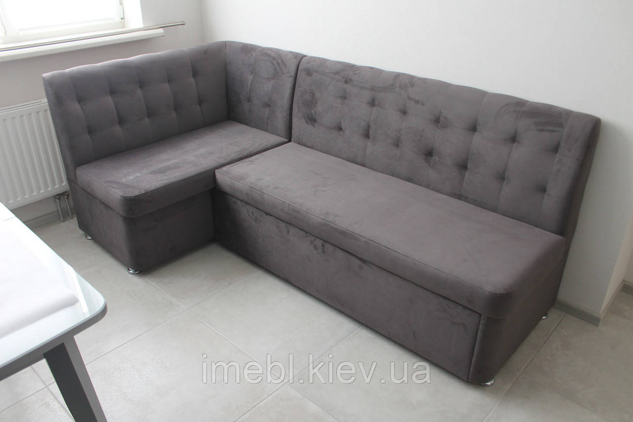 Кухонний кутовий диван зі спальним місцем (Сірий)