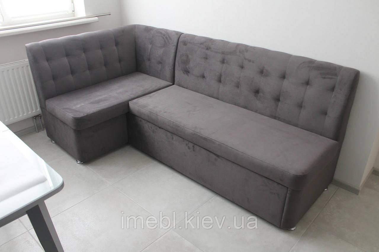 Кухонный угловой диван со спальным местом (Серый)