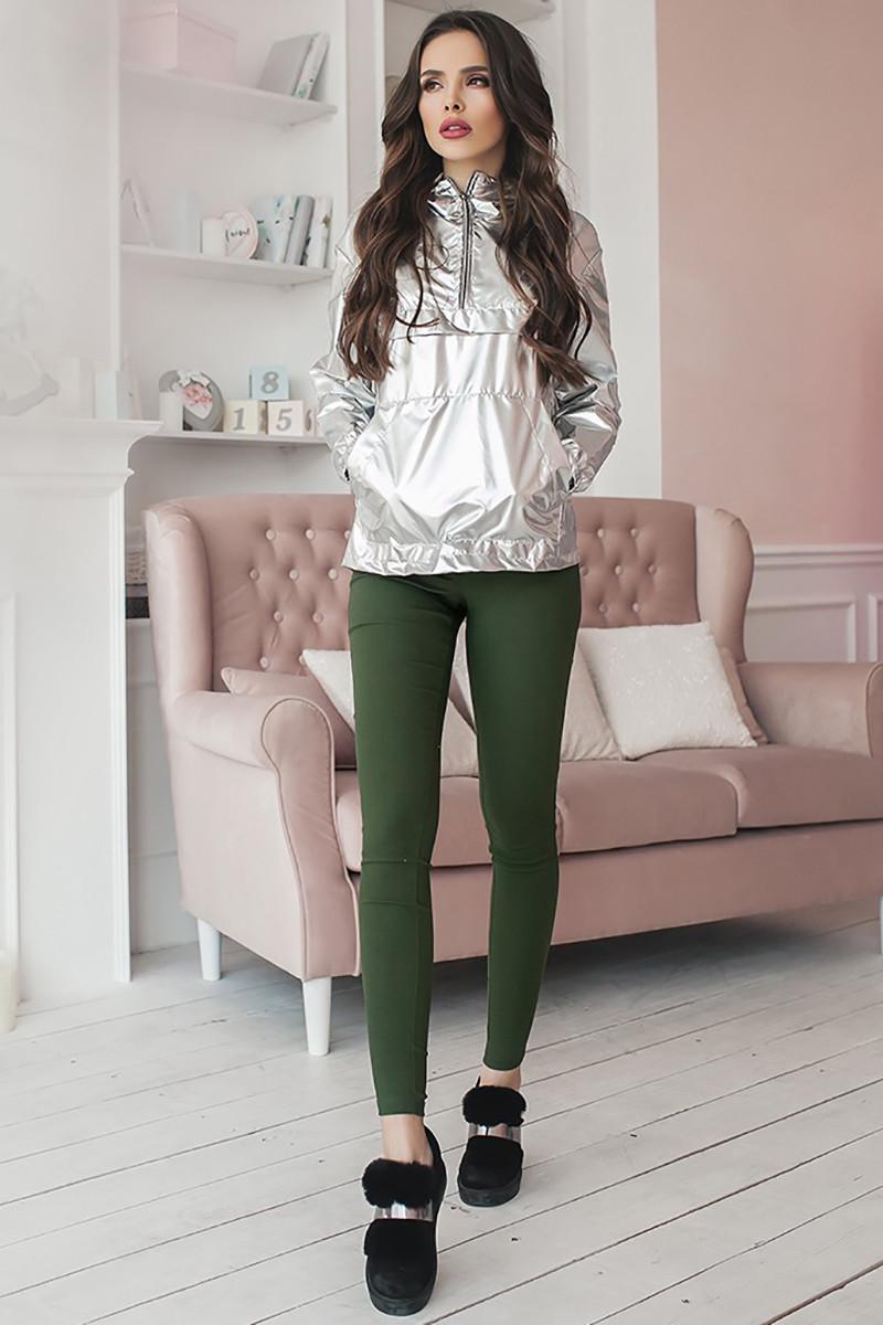 (S, M, L) Жіночі зелені стрейчеві джинси Onil