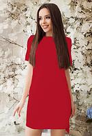 Легкое летнее женское платье длины мини из бенгалина. Размеры норма, разные цвета., фото 1