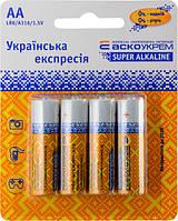АСКО УКРЕМ Батарейка щелочная AА.LR6.BP4 (blister 4)