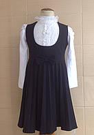 Сарафан школьный Ahsen с плиссированной юбкой, большим круглым вырезом и бантом на талии