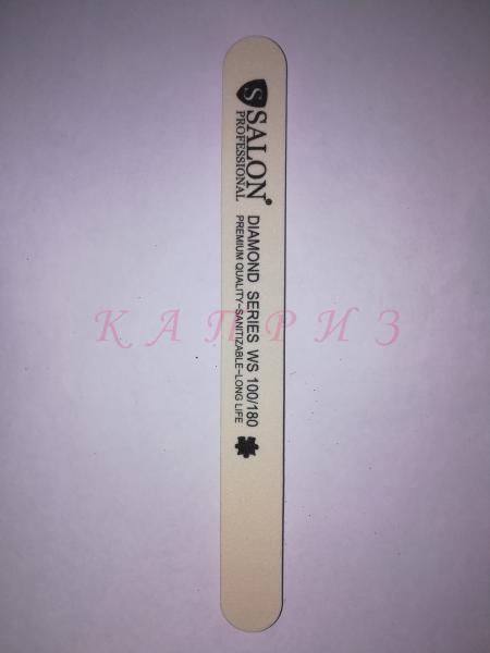 Пилка для ногтей Salon Professional 100х180, прямая узкая.