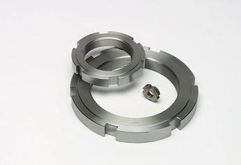 Гайка круглая шлицевая М45х1,5 DIN 1804 из нержавейки, фото 2