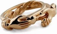 Золотое кольцо головоломка для влюбленных от Wickerring