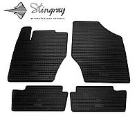 Резиновые коврики Stingray Стингрей Citroen C4  2011- Комплект из 4-х ковриков Черный в салон