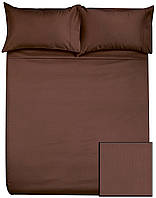 Комплекты постельного HOTEL САТИН (коричневый, 100% хлопок)