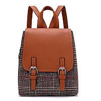 Рюкзак городской женский в шотландском стиле (рыжий)
