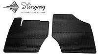 Резиновые коврики Stingray Стингрей Citroen C4  2011- Комплект из 2-х ковриков Черный в салон