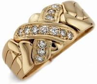 Мужское золотое кольцо с бриллиантами от Wickerring