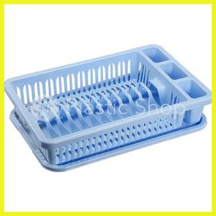 Сушка для посуды Elit голубая