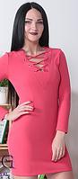 Женское платье длины мини, платье с люверсами, платье со шнуровкой. Разные цвета и размеры., фото 1