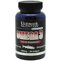 Рыбий жир, Омега Ultimate Nutrition Omega-3, 90 softgels