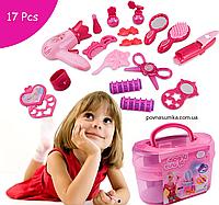 Набор парикмахера, в розовом чемоданчике с ручкой, 11х20х12,салон красоты