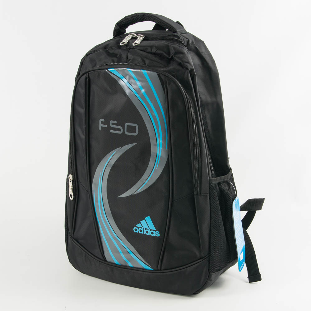 Спортивний рюкзак Адідас - чорний с синім - 861