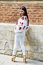 Вышиванка лен блуза белая вышитая этно стиль, Bohemian, фото 5