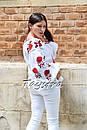 Вышиванка лен блуза белая вышитая этно стиль, Bohemian, фото 2