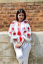 Вышиванка лен блуза белая вышитая этно стиль, Bohemian, фото 7