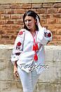 Вышиванка лен блуза белая вышитая этно стиль, Bohemian, фото 8