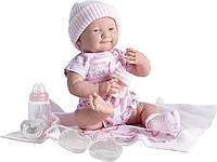 Большая кукла пупс Малютка в розовом Berenguer 18781 39 см