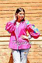 Блузка вышиванка этно стиль, Bohemian, яркая вышитая блуза, фото 2