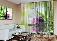 "ФотоТюль ""Орхидеи на солнце"" (2,5м*3,75м, на длину карниза 2,5м)"