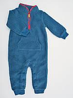 Детский синий комбинезон из шерпы Carters для мальчика