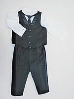 Нарядный классический костюм из 4-х вещей H&M для мальчика