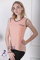 Майка - блузка летняя персик 015, фото 1