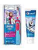 Детская  зубная щетка Oral-B D12. 513 Stages Power (фрозен) + зубная паста Crest