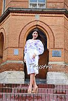 Платье вышитое вышиванка лен этно стиль бохо шик, вишите плаття вишиванка, элегантное платье белое
