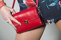 Сумка кожаная женская BAG-1 красная